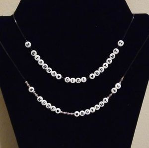 Jewelry - Letter Beads Necklaces